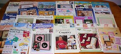 Craft Books Needlework Ribbon Embroidery Patterns Charts Projects Designs (f)