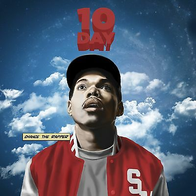 """Chance The Rapper 10 Day Rap Album Music Cover Poster 12x12"""" / 24x24"""" / 32x32"""""""