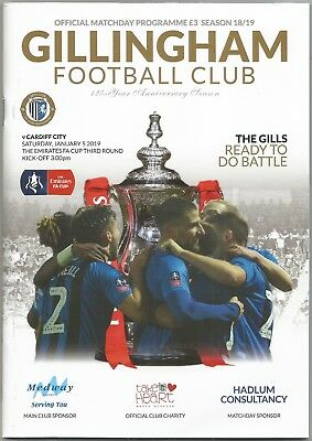 GILLINGHAM v CARDIFF CITY (FA Cup 3rd Round) 2018-19