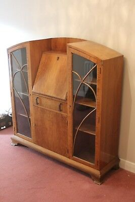 1930s Writing Bureau with glass doors Great Condition