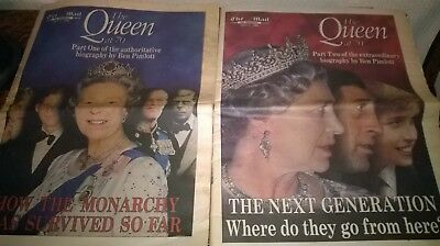 The Mail On Sunday. Feature, `the Queen At 70`.  Parts 1 And 2.  (April, 1996.)
