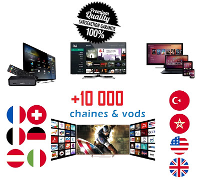 6 Mois D'abonnement Iptv Premium Server Best Quality -M3U Smart Iptv Mag Android