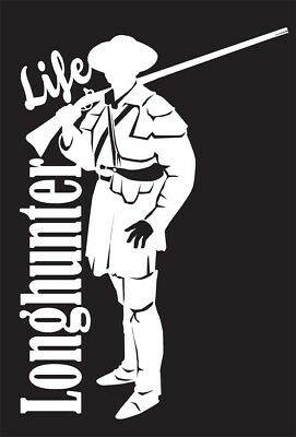 Long hunter Life Vinyl Window Sticker (#06 Longhunter Life)