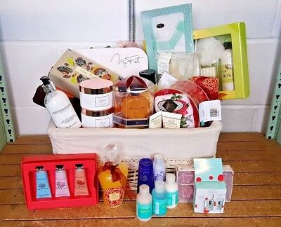 Wicker Basket Hamper of Toiletries for Event Raffles Prizes