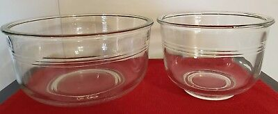 Vtg Glass Mixing Bowl Set Sunbeam MIXMASTER OSTER Regency KITCHEN CENTER MIXER