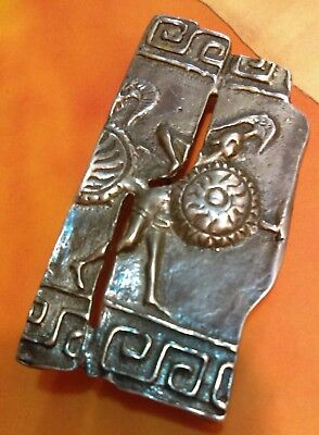 Sale! Roman/ Greek Ancient Warrior Brooch Silver Pin, Soldier Military Marked
