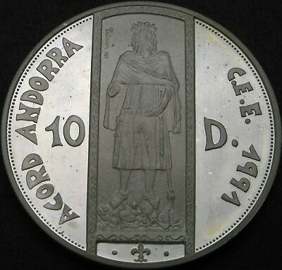 ANDORRA 10 Diners 1994 Proof - Silver - ECU Customs Union - 1924 ¤