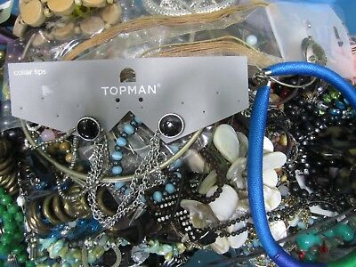 Bundle 10kgs Job Lot of Costume Jewellery Some Wearable Some Spares Crafts 34E