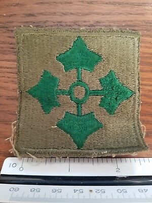 "WWII US Army 4th INFANTRY Division Patch width 2.5"" unused - near mint"