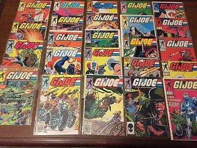 Vintage G.I. JOE Comic Books by Marvel FIRST SERIES! Bronze 24 BOOKS! NICE! 095