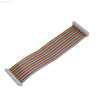 DF28 40Pin Way GPIO Female To Female Rainbow Ribbon Cable IDC 22cm For