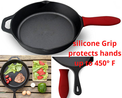 Cast Iron Skillet 10 Inch Fry Pan Oven Pre-Seasoned Cookware Cooking Stove Pot