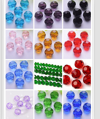 wholesale 6--12mm  32 multiaspect edge Angle of bead crystal spacer beads