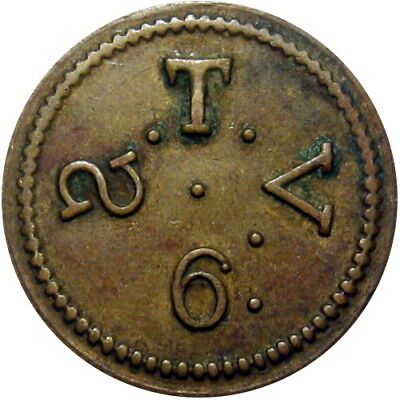 Possible Civil War Sutler Token S T V 6 R9