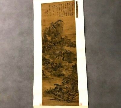 Veryearly Chinese Mountain Lanscape Silk Scroll Painitng Song Dynasty Sotheby'S