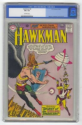 Hawkman #2 CGC 8.5 HIGH GRADE DC Comic OLD LABEL Anderson Cover Art Silver 12c