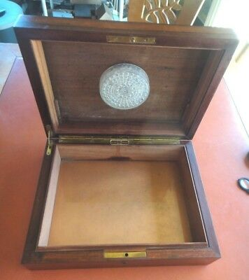 Vintage DUNHILL FLAME GRAIN BURL WOOD 50 CIGAR ESTATE PIPE HUMIDOR VERY GOOD