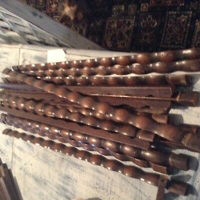 Antique wooden stair rods