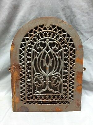 Antique Cast Iron Arch Decorative Heat Grate Register 9X12 Dome Vintage 31-19C