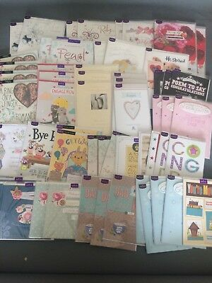 Wholesale Job Lot 58 Hallmark Premium Greeting Cards Engagements Anniversary Get