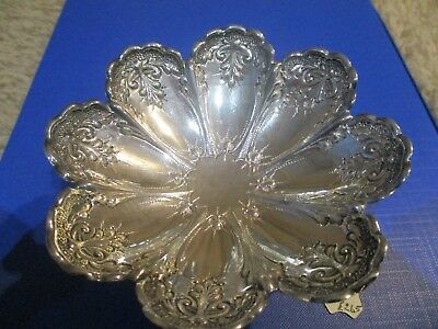 Antique silver boat shaped bon bon dish 1898 Sheffield by Atkin Bros