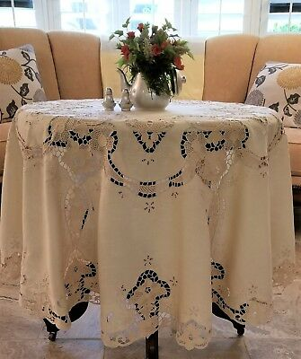 Cluny Lace, Vintage Tablecloth