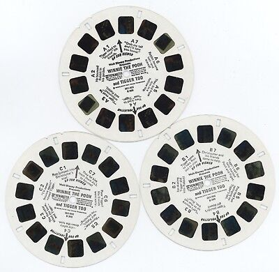 Set of 3 Viewmaster Children's Reels - Winnie the Pooh and Tigger Too (B369)