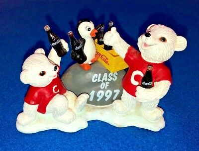 "Coca Cola Polar Bears Cubs Collection ""We Did It"" Figurine Class of 1997 H72031"