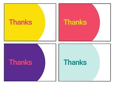 """eBay-Branded 5.5"""" x 4"""" Thank You Postcards Multi-Pack 4 Colors 25 Each Color New"""