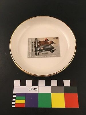 Maine Ducks Unlimited 1983 Butterpat Butter Pat Small Plate