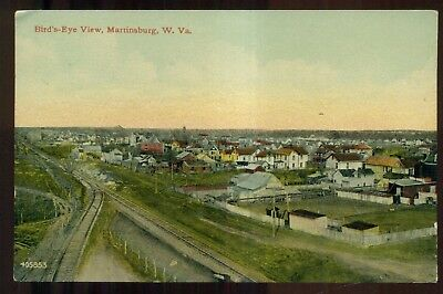1914 Martinsburg,WV Bird's-Eye View Postcard