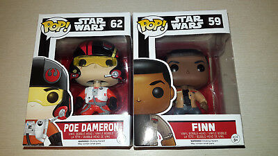Funko Pop! Star Wars Nr. 59 & 62 >Finn< & >Poe Dameron< Neu/OVP!!!Sammelfiguren
