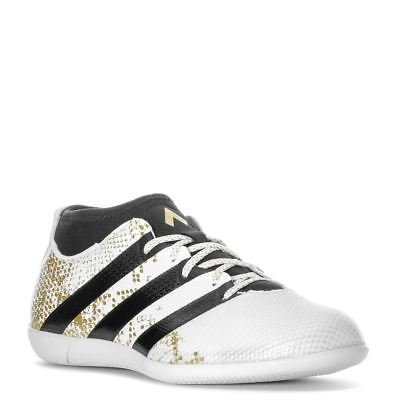 d45bd9239e2 adidas Ace 16.3 Primemesh Indoor Football Shoes Mens White Gold Soccer  Trainers