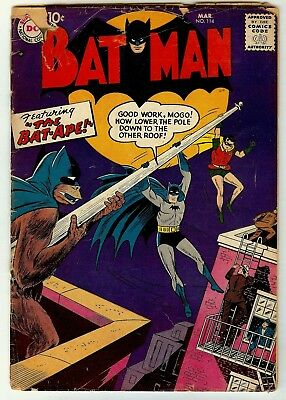 Batman #114 -1958   Silverage Bob Kane Stories/art-Bat-Ape Cvr-