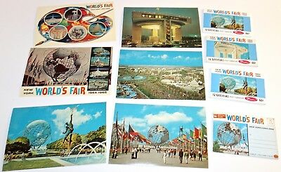 LOT of 1964-65 WORLD'S FAIR POSTCARD BOOKLETS & OVERSIZE POSTCARDS~NEW & UNUSED!