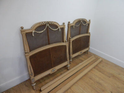Pair of antique french beds for restoration
