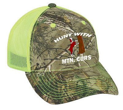 Cap Hat Custom Camo Yellow Mesh Coonhound Hound Dog Hunt Coon Mtn Cur  Personaliz d341003d754e