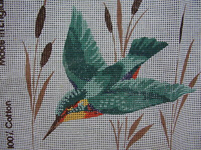 "Tapestry/Needlepoint Canvas Only. "" Kingfisher "" Coates Fleur de Lis."