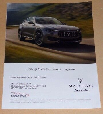 Maserati Levante Grand Lusso Car Advertisement-Some Go To Heaven -2018