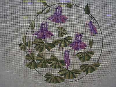 "Printed Tapestry/Needlepoint Canvas only ""Columbine"" Royal School of Needlework"