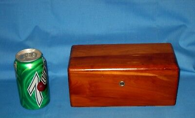 VTG Wood Advertising Lane Furniture Co Salesman Sample Cedar Chest Jewelry Box!