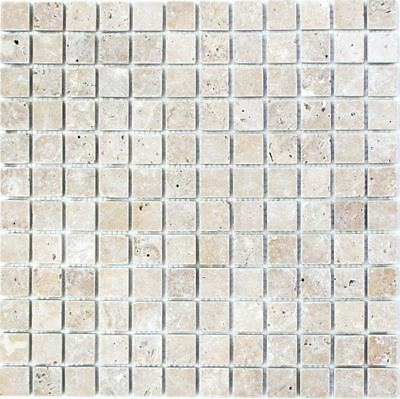 Mosaic Tile Marble Natural Stone Black Nero Antique floor 43-44023_f | 10 sheet