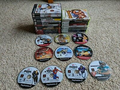 Mixed Video Game Lot of 31 video games PlayStation 2 PS2 Xbox 360