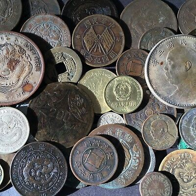 54 ASIA COIN LOT with CHINA PEI YANG and FAT MAN SILVER DOLLARS