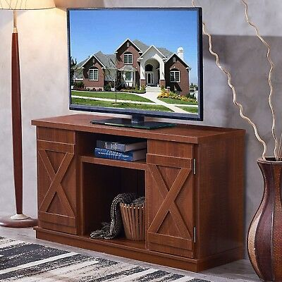 Rustic Tv Stand Console Up To 51 Barn Door Style Farmhouse
