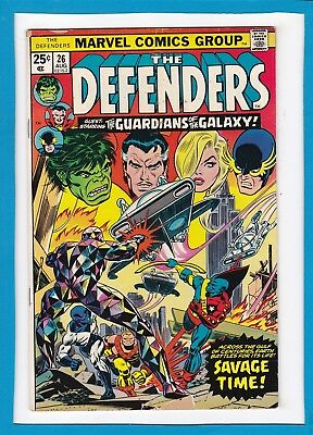 The Defenders #26_Aug 1975_Vg Minus_Guardians Of The Galaxy_Bronze Age Marvel!