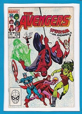Avengers #236_Oct 1983_Very Fine Minus_Spider-Man_Captain America_Scarlet Witch!