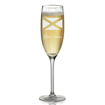 Personalized Champagne Glass - Flag of Scotland