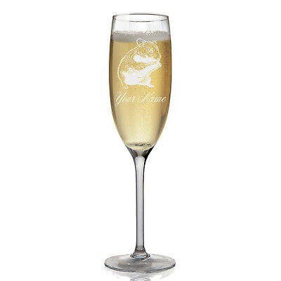 Personalized Champagne Glass - Hamster