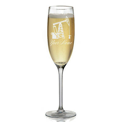 Personalized Champagne Glass - Pumpjack